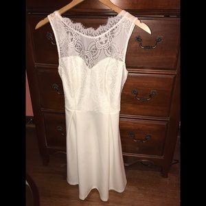 White lace dress perfect for a bride!